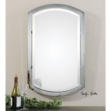 polished chrome metal framed mirror 01128 the home depot