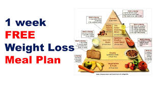 Free Weight Loss Meal Plan Diet Plan For Weight Loss Meal