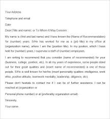 Recommendation Letter For Employment A Friend To Sample