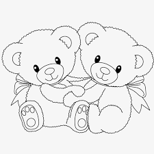 Teddy Bear With Couple Coloring Pages