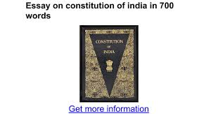 essay on constitution of in words google docs