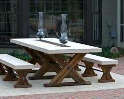 rustic homemade outdoor patio table