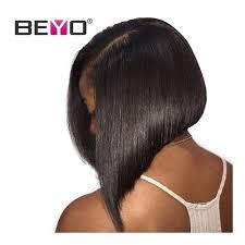 Straight Hair Length Chart Beyo Glueless Short Bob Wigs Brazilian Straight Hair Deep