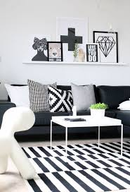 Living Room  Small Living Room Decorating Ideas With Sectional - Black furniture living room