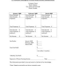 Free Printable Profit And Loss Statement Form Financial Statement Template For Small Business Sample Pdf Free