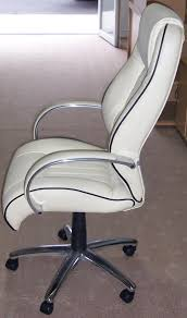 desks chairs. Office Chair Cream Leather And Chrome Side View Desks Chairs