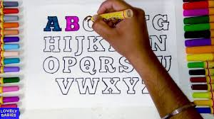Use your numbers, exclamation and. Learn Colors With Alphabets Coloring Pages Abc Abc Coloring Pages Alphabet Coloring Pages 4 Kids Youtube