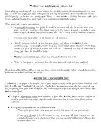 intro autobiographical essay   best argument essay topicssample autobiography examples
