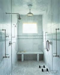 to da loos showers with built in benches
