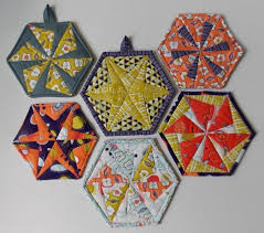 108 best Hexagons images on Pinterest | Hexagons, Quilt designs ... & Hexagon Quilt Pattern for Trivets, Coasters and Potholders Adamdwight.com