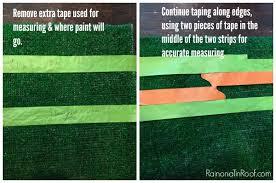 diy painted astroturf rug tutorial via rainonatinroof com diy rug homedecor