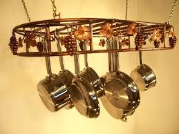 pot rack chandelier modern style coordinate with your kitchen and cookware racks eldridge bronze