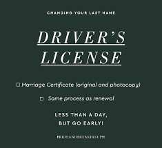 driver s license marriage certificate original and photocopy same process as renewal less