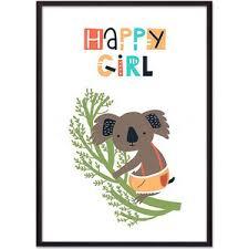 Постер в рамке Дом Корлеоне Коала Happy girl 50x70 см | www ...