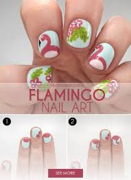 This Flamingo and Floral Nail Art is the Perfect Poolside Mani ...