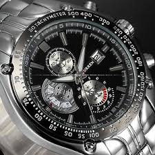 fashion mens watches stainless steel sport quartz analog date image is loading fashion mens watches stainless steel sport quartz analog