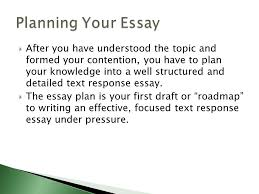 how to write a text response essay ppt  planning your essay