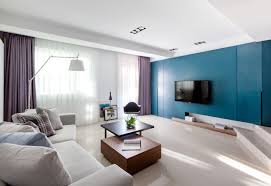 Purple Decorating Living Rooms Vibrant Blue And Purple Apartment Decor