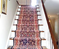 Staircase Rug Runner Installation by Nejad Rugs in Bucks County PA