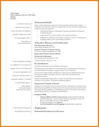 Resume Template Education First Najmlaemah Com