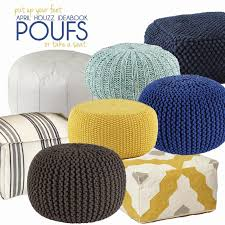 yellow pouf ottoman. Delighful Pouf Best Knit Pouf Ottoman 90 For Your Patio Inspiration Photos With  Inside Yellow C