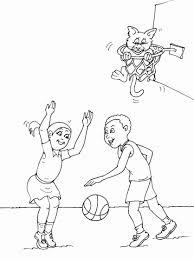 Voetbal Kleurplaat Fantastisch Veel Kleurplaten Basketbal Basket