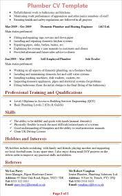 Plumber Resume Best Plumbers Cv Styles Plumbing Template Apprentice Sample Journeyman