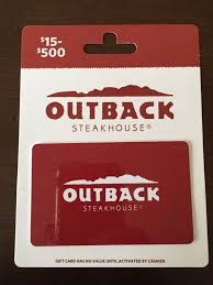 500 gift card outback steakhouse bonefish grill fleming s carrabba s ebay