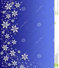 Christmas Snowflakes Border Stock Illustration