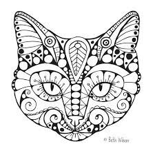 503 Best Cats Dogs Coloring Pages For Adults Images On Pinterest