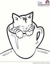 Small Picture Cat Coloring Pages Cats Coloring pages Kitten Coloring pages