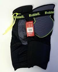 Riddell Girdle Size Chart Riddell Mens Power Volt 5 Pad Integrated Girdle Black Green