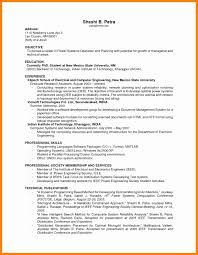 11 Resume Examples No Work Experience Letter Signature
