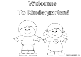 Small Picture Kindergarten Welcome Coloring Pages Coloring Coloring Pages