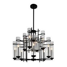 sierra 12 light black chandelier