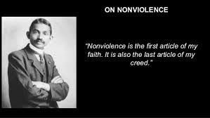 "on nonviolence ""nonviolence is the"