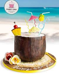 Friddles Cakes Coconut Cocktail Birthday Cake Tropical Cakes