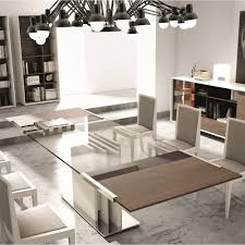 modern dining table with glass top jm furniture  modern