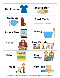 Toddler Routine Chart Morning Routine Cards Pinspired Home Pdf Routine Cards