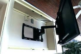 diy outdoor waterproof tv cabinet plans arm extended