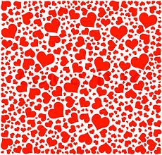 Hearts Background Happy Valentines Stock Vector Colourbox