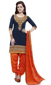Amazon Punjabi Suits Design Chakudee By Blue And Orange Dress Amazon In Clothing
