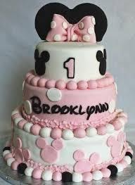 Minnie Mouse Cake For 1 Year Old Birthdaycakefordaddyga