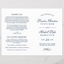 Wedding Ceremony Program Cover Wedding Programs Zazzle