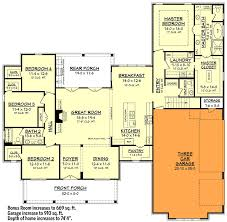 house plans 3 car garage bonus room unique modern farmhouse plan with bonus room hz