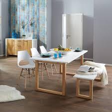 Esstisch Hanstholm 90x190 Eiche Weiß Deko Esstisch Tisch