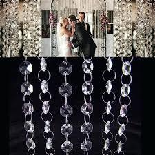 acrylic chandelier beads free ft crystal clear acrylic bead garland chandelier hanging wedding party acrylic