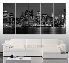 office canvas art. CANVAS ART New York City Skyline Printing - 5 Panel Home Or Office Decoration Canvas Art I