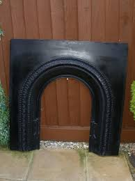 edwardian style cast iron fireplace front can fit in existing fireplace or mount on wall 97cm x 97cm