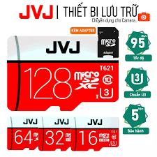Thẻ nhớ 128Gb/64Gb/32Gb/16Gb JVJ Pro U3 Class 10 Tặng kèm ADAPTER MicroSD –  chuyên